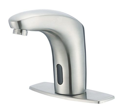 Dyconn faucet nelson hands touch free motion sensor - Touchless bathroom faucet brushed nickel ...