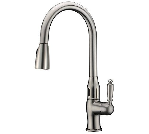 Phasat jh108001 a hands free single handle movement sensor - Touchless bathroom faucet brushed nickel ...