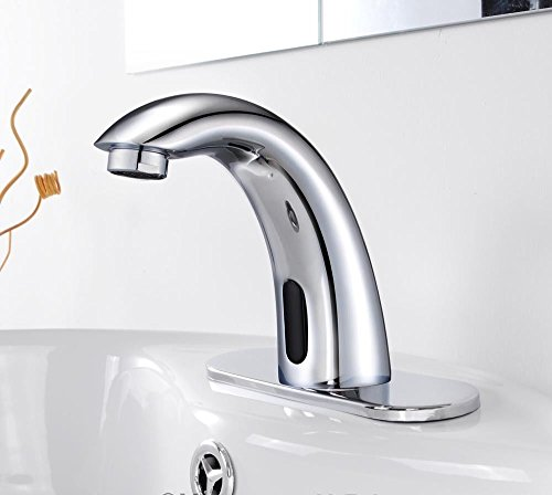 GHP Automatic Electronic Sensor Touchless Hands Free Bathroom Faucet Vessel  Sink